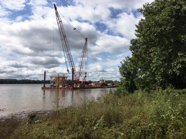 CJ Mahan Lock and Dam work