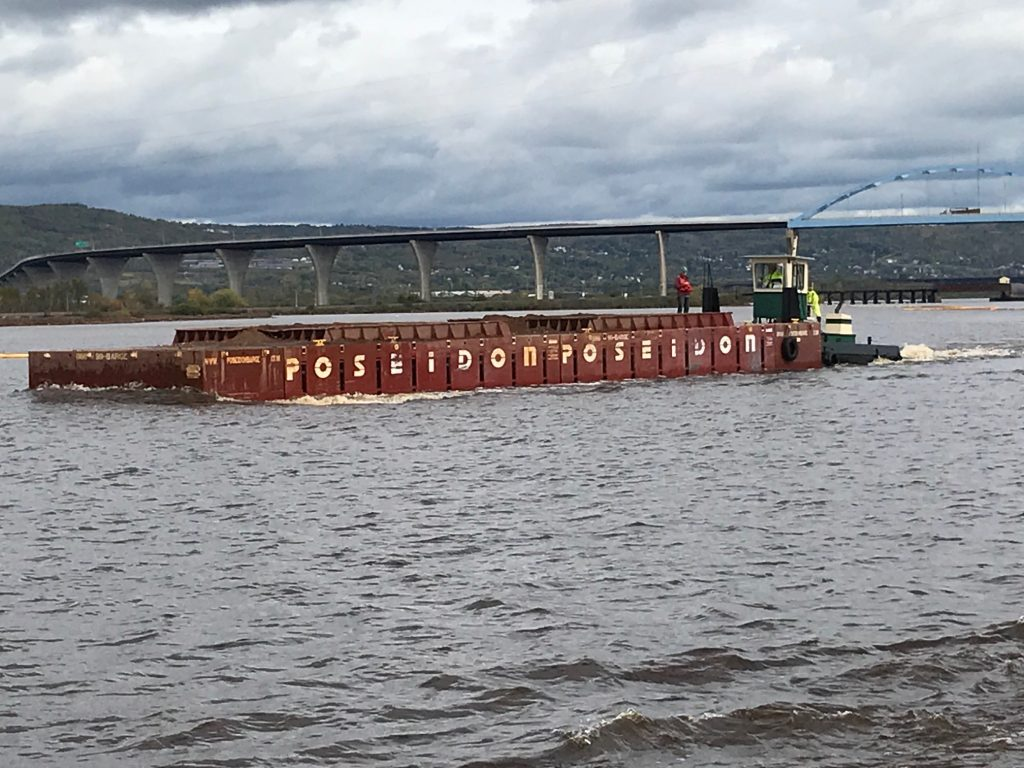 Veit Companies (Rogers, MN) dredging at Grassy Point in Duluth, MN