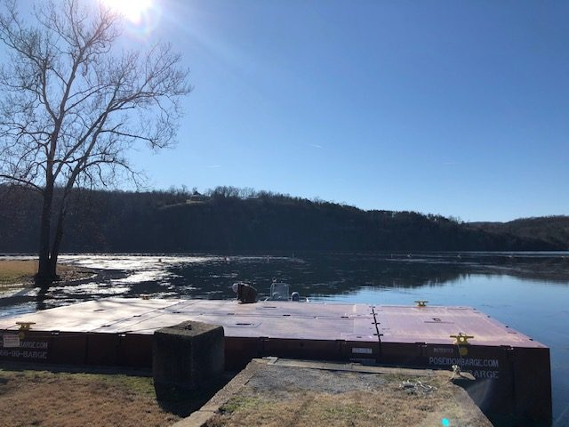 P1 20x10x5 barges in Ozark Beach location